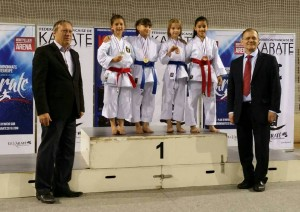 Podium coupe de france pupilles